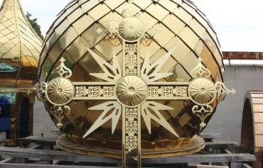 Декорирование накупольных крестов.