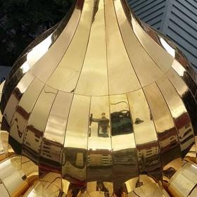 Предпочтения в материалах для изготовления куполов и шатров храма.
