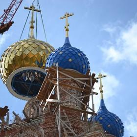 Монтаж купола храма различной формы плоской или объемной шашкой.