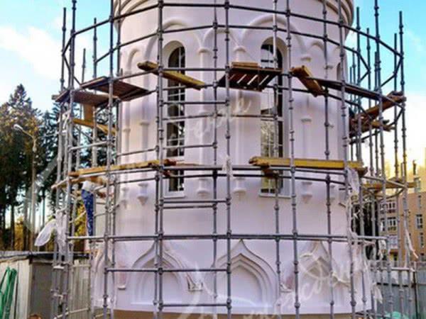 Изготовление фигурной лепки для стен и сводов храма.