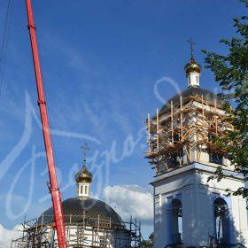 Строительство храма — от фундамента до накупольного креста.