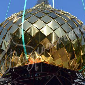 Изготовление чешуи для купола в Москве.
