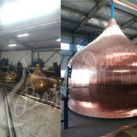 Различия между куполами разных размеров и фактуры покрытия.