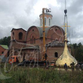 Изготовлен купол и крест для храма Святого Александра Невского в п. Александровка Подольского р-на, Московской обл.