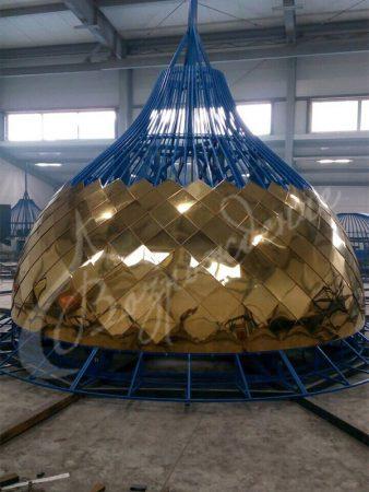 Соотношение размера купола храма с его весом.