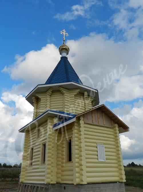 Выполнена работа на новостроящийся храм в д. Лентьево вологодской обл.