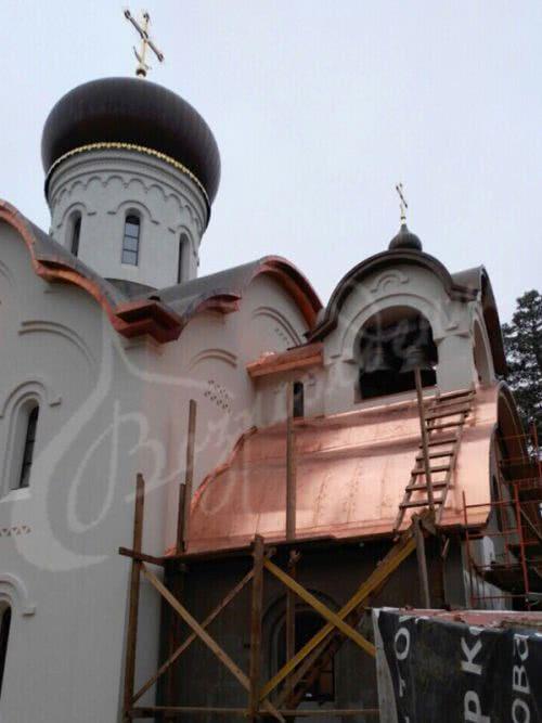 Выполнены работы для храма Фёодора Ушакова, п. Купавна, г. Железнодорожный, Московская обл.