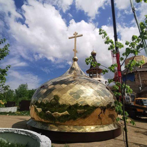 Установлены купола на храм в с. Нефедьево, Красногорского района, Московской области